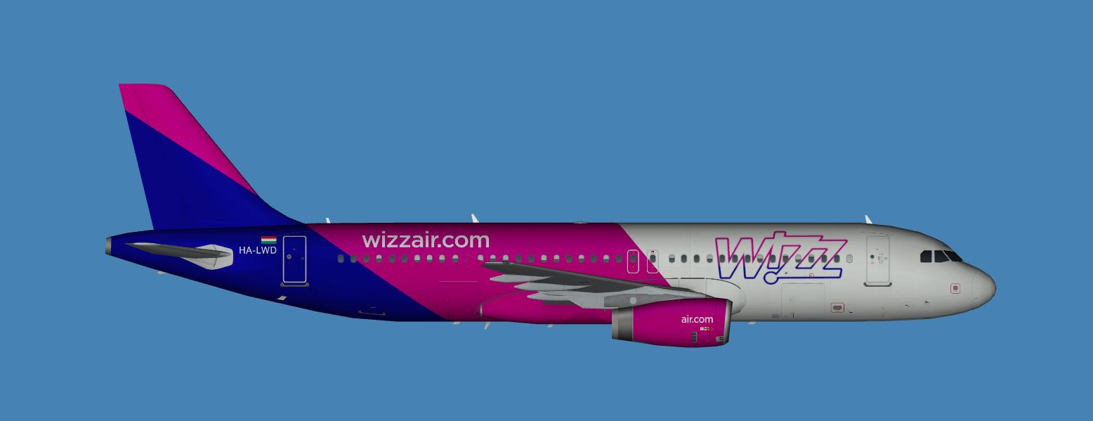 Wizzair Airbus A320 200 New Livery Fsx Updated Jcai