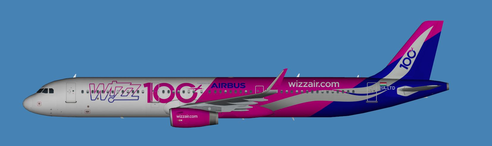 "Wizzair Airbus A321-200 FSX ""updated"" 