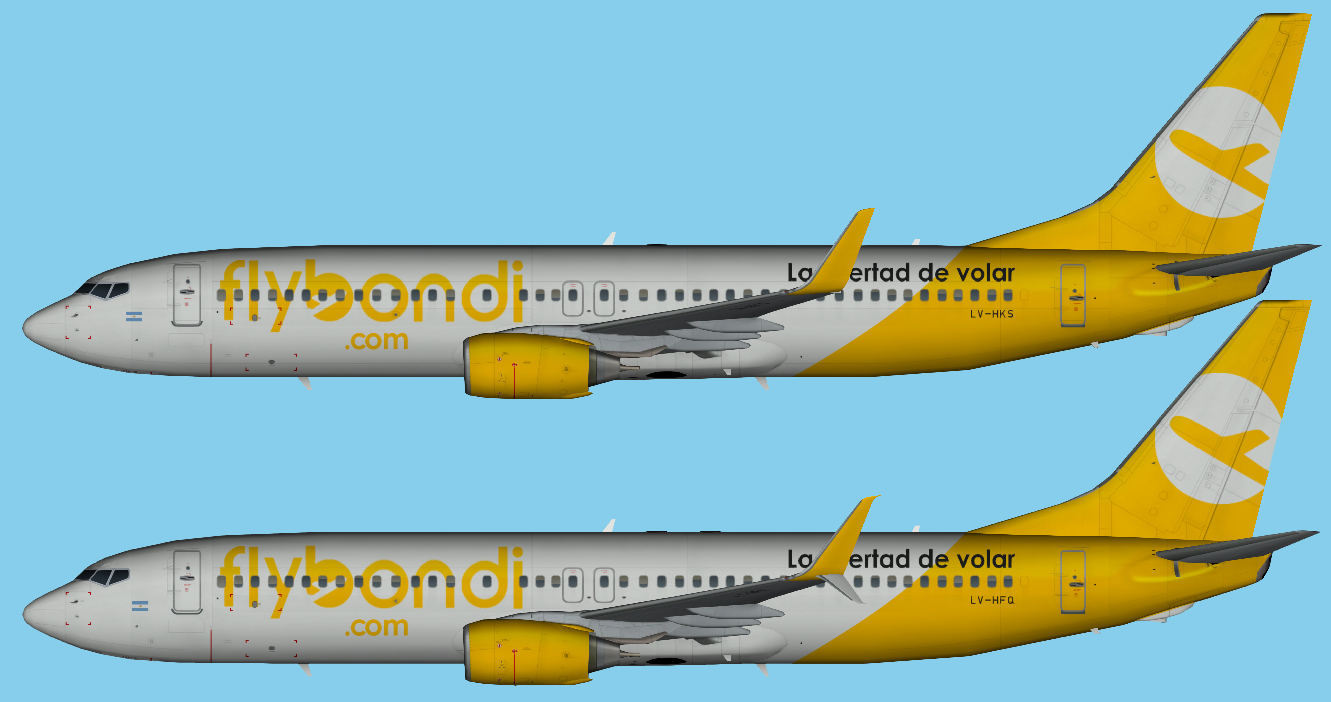 FlyBondi Boeing 737-800 Winglets and Scimitars FSX | JCAI